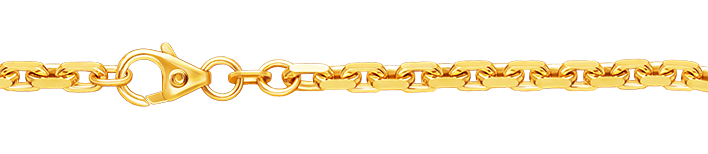 Armband Anker diamantiert 585 Gold (14 Karat) massiv 3,8mm Karabiner Binder