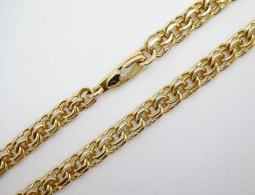 Kette Garibaldi 585 Gold (14 Karat) Gelbgold Krabbenschloss 36,2g 5,9mm 56cm