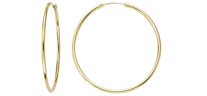 Creolen 585 Gold (14 Karat) 1,8mm Bügel Binder