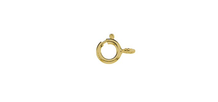 Federring 585 Gold (14 Karat) Gelbgold roh 1,1cm 7mm 0,3g Binder